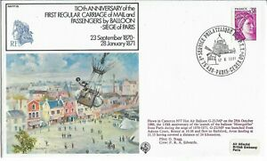 France 1981 Cameron N77 Balloon Flown 1st Carriage of Mail & Passengers 1870-187