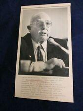 Wire Press Photo 1991 William Seidman FDIC National bank of Washington take-over