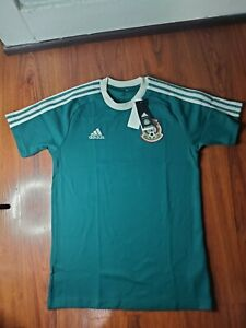 Adidas Tricolor Mexico Size Small Icon Tee Stripes Soccer  Shirt