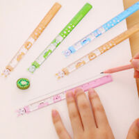 4PC Cute Animal Ruler Straight Ruler Learning Measure Stationery Color Random