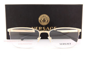Brand New VERSACE Eyeglass Frames VE 1263 1002 Gold For Men Size 55mm
