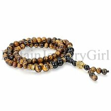 Handmade Tibetan 6mm Prayer 108 Beads Buddhist Wrap Bracelet  Necklace Mala