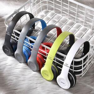 Wireless Bluetooth Headphones Kids Foldable Headset P47 Over-Ear Stereo Earphone