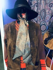 60s 70s vintage style handmade Paisley scarf by Cosmic Haze Design