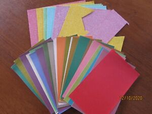 XCUT ADHESIVE GLITTER SHEETS & PEARLESCENT PAPERS