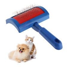 Puppy Cat Dog Grooming Slicker Dog Comb Steel Needle Brush Clean Tool Blue HY#U