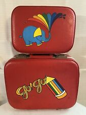 Vintage 1970s set Of 2 Hardshell Suitcases 17 Inch And 13 Inch