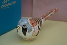 "Royal Crown Derby Paperweight ""BEARDED TIT""  1st Quality & Original Box   New"