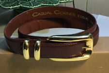 Casual Corner Size Small Brown Genuine Leather Gold Buckle Belt