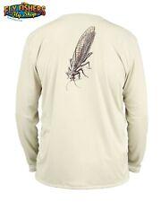 Simms Fishing Solar Tech Tee LS Shirt - XL - Stonefly Sand - NEW DISCOUNTED