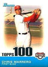 2010 Bowman Topps 100 Prospects #TP73 Chris Marrero Washington Nationals