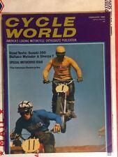 Cycle World Magazine February 1969- Suzuki T-350 Rebel MOTOCROSS