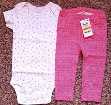 Girl's Size 12 M 9-12 Months NWOT Carter's Cherry Top + NWT Pink Floral Leggings