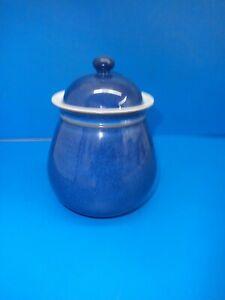 DENBY  BLUE STORAGE JAR - UNMARKED