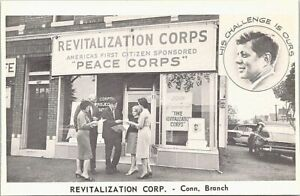 Photo Post Card Connecticut Branch of Revitalization Corps John F. Kennedy 1960s