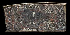 Ecorce peinte blackwater, painted sago bark ceiling, oceanic tribal art