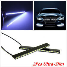 2x Super Bright Ultra-Slim Autos Daytime Running LED Fog Signal Light DRL Strips