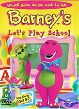 Arabic Cartoon dvd BARNEY LETS PLAY SCHOOL ARABIC EDUCTIONAL DVDS