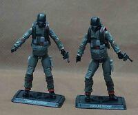 2pc GI JOE Cobra Air Trooper W GUN STAND BASE 30th Anniversary ACTION FIGURE A14