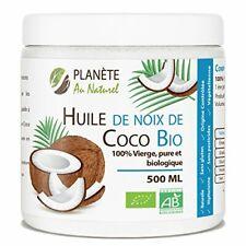 Huile de Coco Bio  500 ml  Vierge, Pure et Bio Soin des Cheveux -Beauté Cuisine-