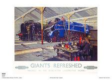 ENGINES CUNEO TRAINS RETRO VINTAGE RAILWAY TRAVEL ADVERTISING POSTER ART