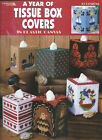 A YEAR OF TISSUE BOX COVER IN PLASTIC CANVAS 12 Designs ~ Leisure Arts #1809