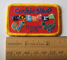 Girl Scout 2002 COOKIE SALE PATCH Every Girl Go There COOKIE SHOP Geckos Lizards