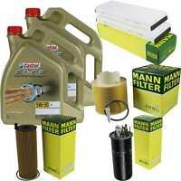 Inspection Kit Filter Castrol 10L Oil 5W30 for Audi A6 Allroad 4FH C6