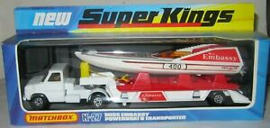 MATCHBOX SUPERKINGS K-27 'MISS EMBASSEY' POWERBOAT & TRANSPORTER MIB