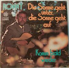 """RONNY - DIE SONNE GEHT MENOS DE DIE SONNE VA EN - TELEFUNKEN(F192] 7""""SINGLES"""