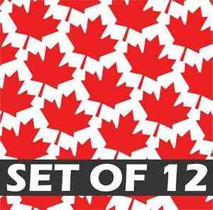 (12X) MAPLE LEAFS Vinyl Decal Sticker Canada Toronto Maple Leaf Flag iPhone 7