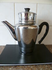 A VINTAGE (c 1970s)   CHROME ON COPPER, THREE PIECE , FRENCH COFFEE  PERCOLATER