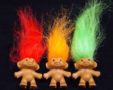 Three Trolls RED, ORANGE & GREEN Pencil Tops with FREE Mini Troll