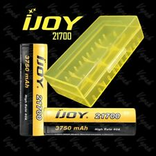2 iJOY 21700 High Drain 3750mAh/40A Flat Top Rechargeable Battery / Yellow Case