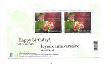 CANADA Scott 2150 Souvenir Sheet Queen Elizabeth II, 80th Birthday MNH F-VF