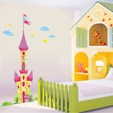Huge Princess Castle Wall Decal Removable Sticker Home Decor Kid's Room 95*180cm