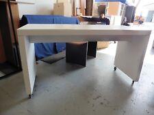 OFFICE WHITE 2000MM RECTANGULAR STANDING TABLE BRISBANE