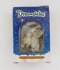 "Dreamsicles Christmas Tree Ornament "" Cherub Facing Bunny"" 1994 Cast Art"