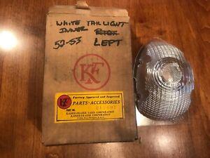 NOS 1952-53 Kaiser Frazer Tail Light Lens White LH Part # 213697 WILLOW RUN