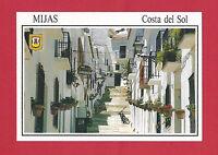 Costa Del Sol Spain View Street Of Mijas Vintage Postcard