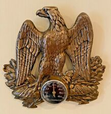 Antique French Napoleonic Eagle Bronze Wall Thermometer