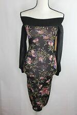 Rachel Roy Women's Off The Shoulder Floral Jacquard Sweater Dress Size XS NWT