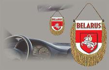 BELARUS REAR VIEW MIRROR WORLD FLAG CAR BANNER PENNANT
