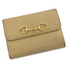 Gucci Wallet Purse Coin purse Beige Gold Woman Authentic Used C650