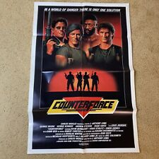 One Sheet 27x41 Movie Poster Counterforce 1988 Andrew Stevens Isaac Hayes