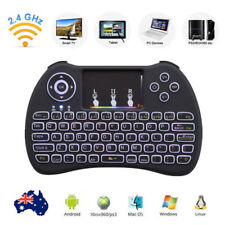 2.4G Wireless Mini Keyboard With Touchpad Mouse For Smart TV Android PC Black HP
