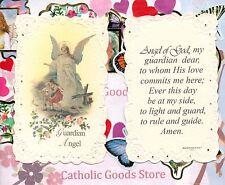 Guardian Angel w/ Guardian Angel Prayer - Laced  Holy Card