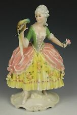 """Dresden Volkstedt Karl Ens figurine """"Lady with Parrot"""" WorldWide"""