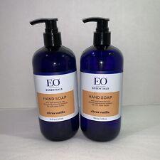 EO Essentials Hand Soap Citrus Vanilla 16oz Lot Of 2