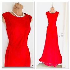 Stunning MANGO Red Maxi Lace Dress Size L/ Uk 12-14/ Party /Christmas/ RRP £139